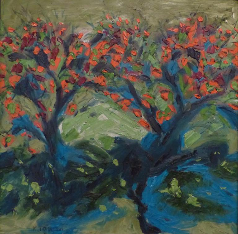 Kaye Johnston: Coral Trees, Rose Valley