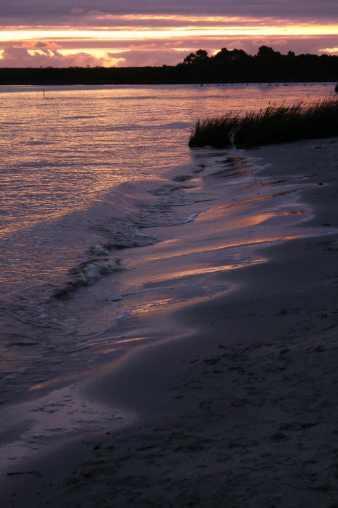 Sue Williamson: Sunset on Strahan Harbour