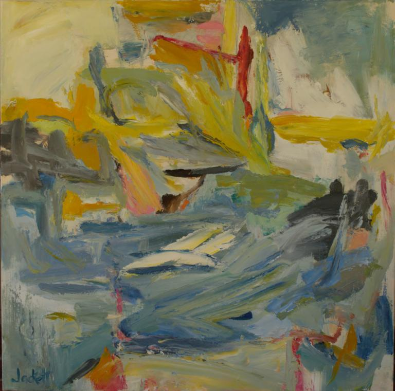 Carla Jackett: The Flow oil 76 x76