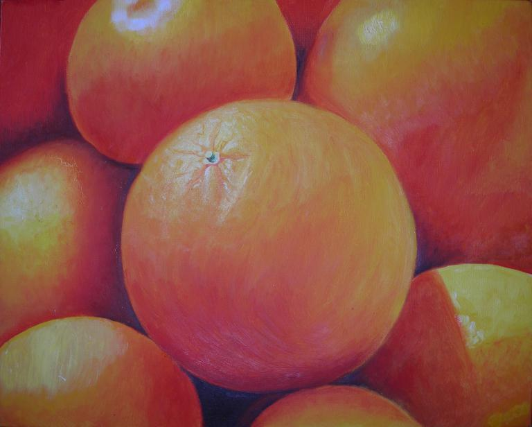 Beverley Exley: Oranges in oils
