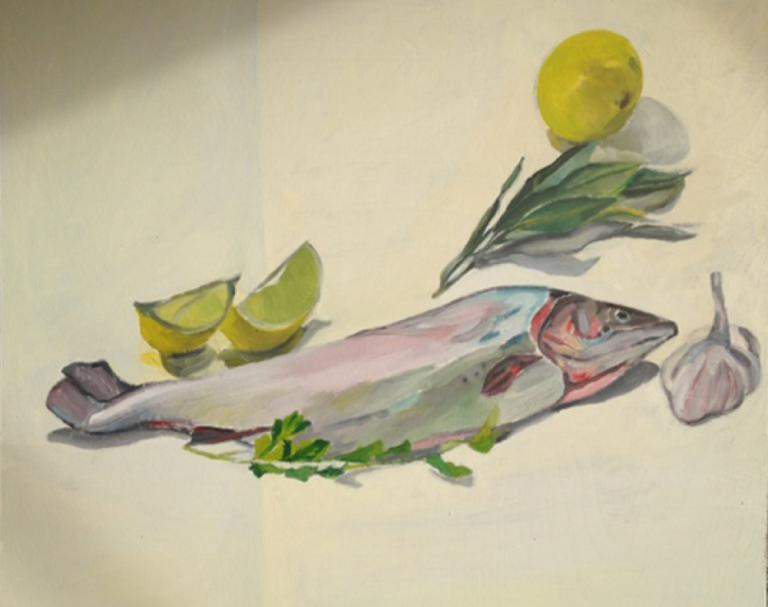 Deborah Hunter Mills: Rainbow trout