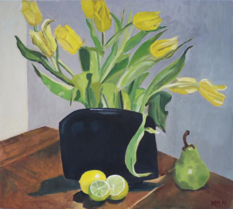 Deborah Hunter Mills: Composition in Yellow and Green