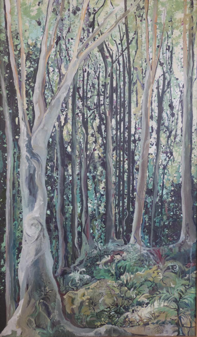 Tish Banks : Down the Track – KV Bushwalk oils 61 x 122cm