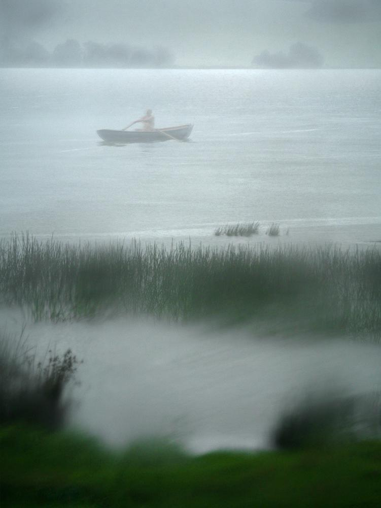 Rowboat in the Fog