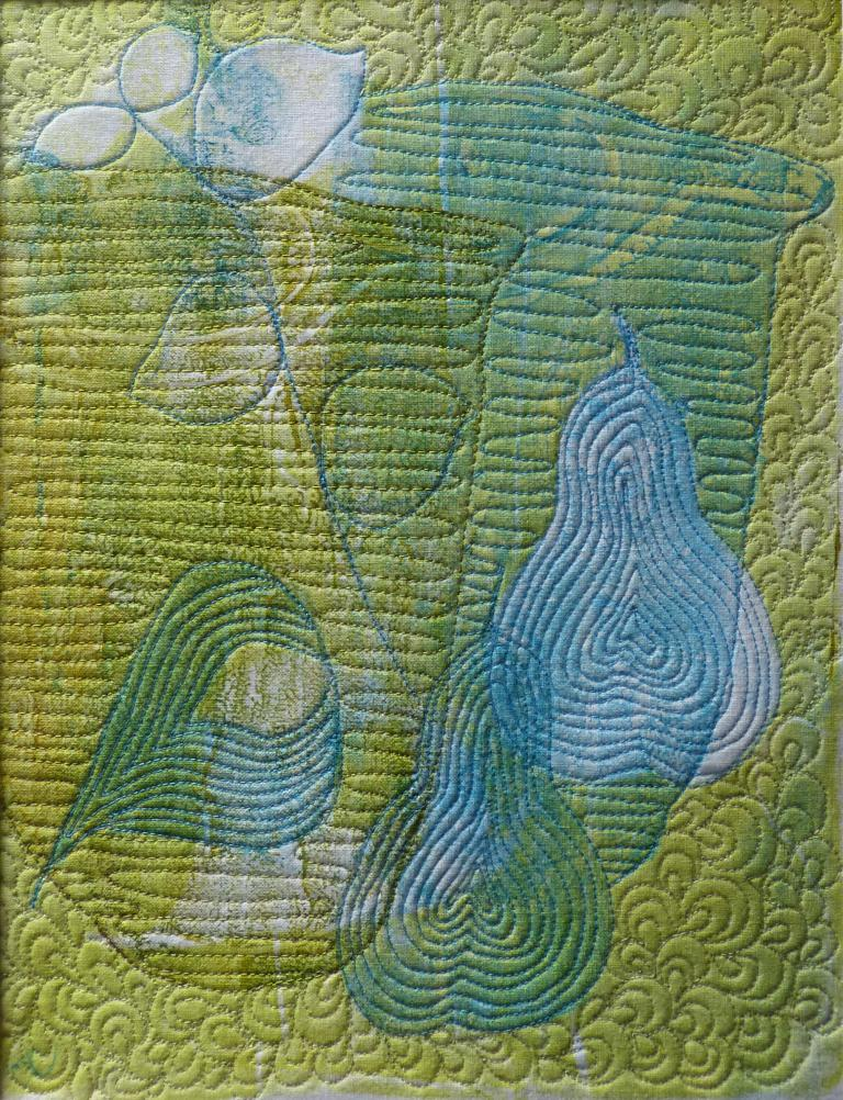 Carolyn Collins: Stitched Life in Lime 1 & 2