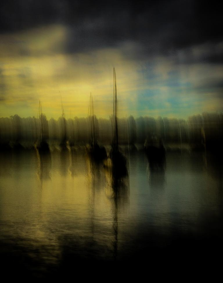 Chris Sutton: Yachts at Anchor, Iron Cove