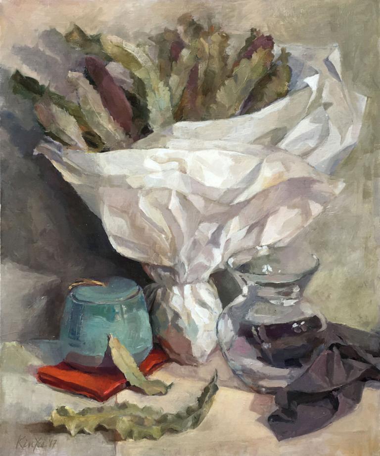 Myriam Kin-Yee: Banksias in White