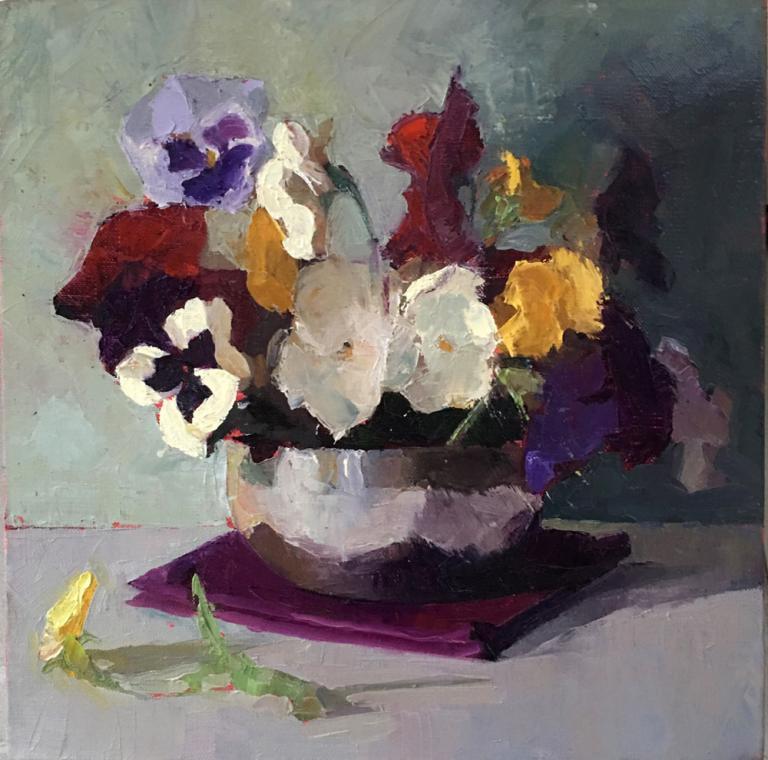 Myriam Kin-Yee: Pansies in Purple