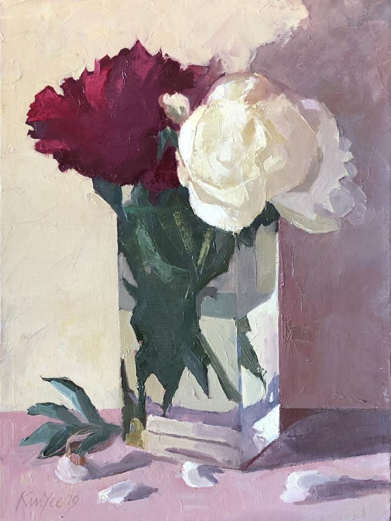 Myriam Kin-Yee: Peonies Red and White