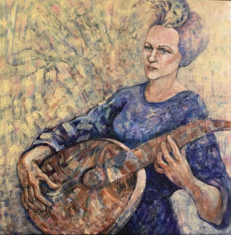 Lynne Mullane: Lute Player (after Artemisia)